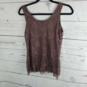 Maurices Tops - Maurices Womens Tank Top Purple Floral Scoop Neck